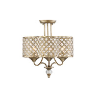 Regis 3 Light 16 inch Pyrite Semi-Flush Mount Ceiling Light