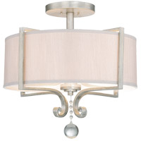 Rosendal 4 Light 22 inch Silver Sparkle Semi-Flush Ceiling Light