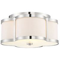 Savoy House 6-2706-3-109 Lacey 3 Light 16 inch Polished Nickel Semi-Flush Ceiling Light