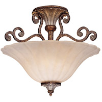St. Laurence 2 Light 16 inch New Tortoise Shell/Silver Semi-Flush Ceiling Light in Cream Marble