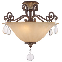 St. Laurence 4 Light 24 inch New Tortoise Shell/Silver Semi-Flush Ceiling Light in Cream Marble
