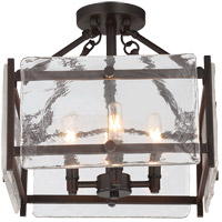 Glenwood 4 Light 14 inch English Bronze Semi-Flush Mount Ceiling Light