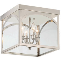 Savoy House 6-3058-4-109 Garrett 4 Light 12 inch Polished Nickel Flush Mount Ceiling Light