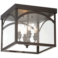 Savoy House Garrett 4 Light Flush Mount in English Bronze 6-3058-4-13