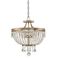 Claiborne 4 Light 18 inch Avalite Semi-Flush Mount Ceiling Light, Convertible