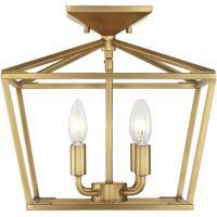 Savoy House 6-328-4-322 Townsend 4 Light 13 inch Warm Brass Semi-Flush Ceiling Light