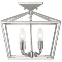 Savoy House 6-328-4-SN Townsend 4 Light 13 inch Satin Nickel Semi-Flush Ceiling Light