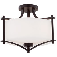 Colton 2 Light 15 inch English Bronze Semi-Flush Mount Ceiling Light