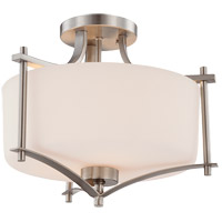Savoy House 6-334-2-SN Colton 2 Light 15 inch Satin Nickel Semi-Flush Ceiling Light alternative photo thumbnail