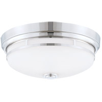 Signature 2 Light 13 inch Polished Nickel Flush Mount Ceiling Light in White
