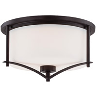 Colton 2 Light 15 inch English Bronze Flush Mount Ceiling Light