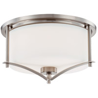 Colton 2 Light 15 inch Satin Nickel Flush Mount Ceiling Light
