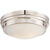 Lucerne 2 Light 13 inch Polished Nickel Flush Mount Ceiling Light