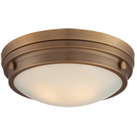 Lucerne 2 Light 13 inch Warm Brass Flush Mount Ceiling Light