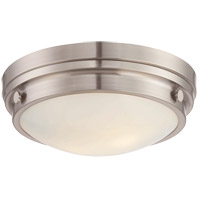 Lucerne 2 Light 13 inch Satin Nickel Flush Mount Ceiling Light