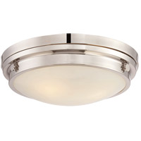Lucerne 3 Light 15 inch Polished Nickel Flush Mount Ceiling Light