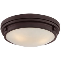 Lucerne 3 Light 15 inch English Bronze Flush Mount Ceiling Light