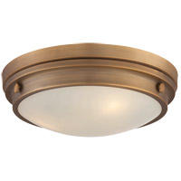 Lucerne 3 Light 15 inch Warm Brass Flush Mount Ceiling Light