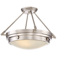 Lucerne 3 Light 19 inch Polished Nickel Semi-Flush Mount Ceiling Light
