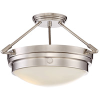 Lucerne 2 Light 17 inch Polished Nickel Semi-Flush Ceiling Light