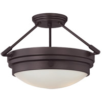Lucerne 2 Light 17 inch English Bronze Semi-Flush Ceiling Light
