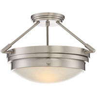 Lucerne 2 Light 17 inch Satin Nickel Semi-Flush Ceiling Light