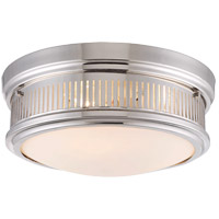 Sanford 3 Light 15 inch Polished Nickel Flush Mount Ceiling Light