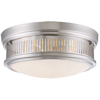 Sanford 3 Light 15 inch Satin Nickel Flush Mount Ceiling Light