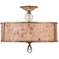 Savoy House Acacia 3 Light Semi-Flush in Oxidized Silver 6-3537-3-128