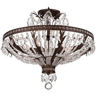 Sheraton 5 Light 24 inch New Tortoise Shell Semi-Flush Mount Ceiling Light