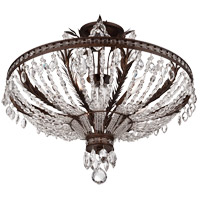 Savoy House 6-372-5-56 Sheraton 5 Light 24 inch New Tortoise Shell Semi-Flush Ceiling Light alternative photo thumbnail