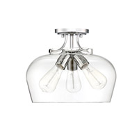 Savoy House 6-4035-3-11 Octave 3 Light 13 inch Polished Chrome Semi-Flush Mount Ceiling Light alternative photo thumbnail