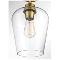 Savoy House 6-4037-1-322 Octave 1 Light 6 inch Warm Brass Semi-Flush Ceiling Light alternative photo thumbnail