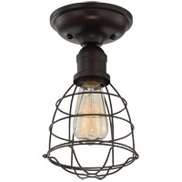 Scout 1 Light 6 inch English Bronze Semi-Flush Mount Ceiling Light