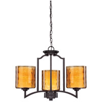Savoy House Orion 3 Light Semi Flush Mount in Oiled Copper 6-4202-3-05