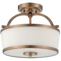 Savoy House Hagen 2 Light Semi-Flush in Heirloom Brass 6-4382-2-178
