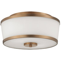Savoy House Hagen 2 Light Flush Mount in Heirloom Brass 6-4384-13-178