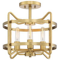 Savoy House 6-4900-4-322 Kent 4 Light 16 inch Warm Brass Semi-Flush Ceiling Light