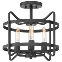 Savoy House 6-4900-4-89 Kent 4 Light 16 inch Matte Black Semi-Flush Ceiling Light
