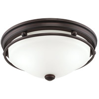 Signature 3 Light 16 inch English Bronze Flush Mount Ceiling Light