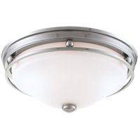 Signature 3 Light 16 inch Brushed Pewter Flush Mount Ceiling Light