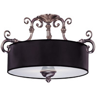 Savoy House Mont La Ville 3 Light Semi-Flush in Brushed Pewter 6-5685-3-187
