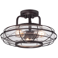 Savoy House Connell 3 Light Semi Flush Mount in English Bronze 6-574-3-13