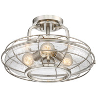 Savoy House 6-574-3-SN Connell 3 Light 16 inch Satin Nickel Semi-Flush Mount Ceiling Light alternative photo thumbnail