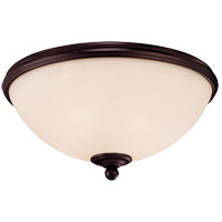 Willoughby 2 Light 13 inch English Bronze Flush Mount Ceiling Light