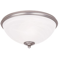 Willoughby 2 Light 13 inch Pewter Flush Mount Ceiling Light