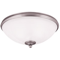 Willoughby 3 Light 16 inch Pewter Flush Mount Ceiling Light