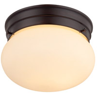 Signature 1 Light 8 inch English Bronze Flush Mount Ceiling Light in Cream