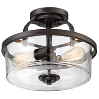 Savoy House 6-6053-2-13 Tulsa 2 Light 13 inch English Bronze Semi-Flush Mount Ceiling Light alternative photo thumbnail