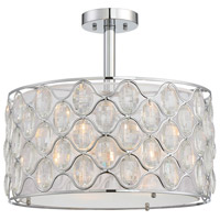 Opus 3 Light 18 inch Polished Chrome Semi-Flush Mount Ceiling Light